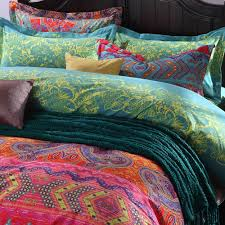 image of aliexpress modern paisley print duvet coversfashion pertaining to boho sheet set quality