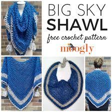 Free Crochet Prayer Shawl Patterns Adorable Big Sky Shawl Free Crochet ComfortPrayer Shawl Pattern Moogly