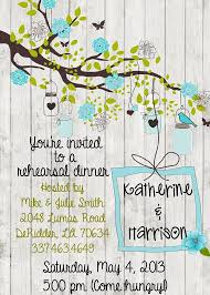 Invitation Card For Dinner Party Rustic Rehearsal Dinner Party Wedding Invitation Wood Handmade