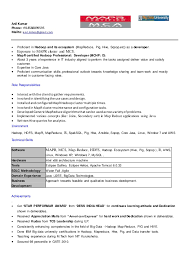 Sample Java Resume Amazing AnilBigData Resume
