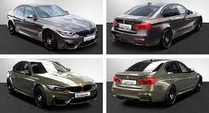 So Shiny So Weird Check Out This Pair Of Bmw M3 Competitions In Special Individual Colors Carscoops