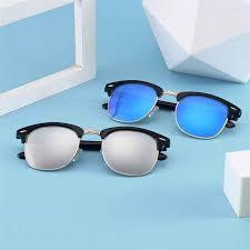<b>New</b> Fashion <b>Polygon</b> Hollow <b>Sunglasses</b> Blue Green Black <b>Clear</b> ...