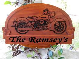 Harley Davidson Signs Decor Harley Wedding Gift Name Sign GP And Son Woodcrafting 68
