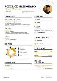 Basic Entry Level Resumes Data Analyst Entry Level Resume Example And Guide For 2019