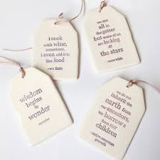 Ceramic Hand Made Quote Gift Tag Ornament