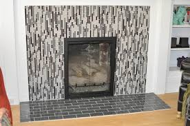image of refacing brick fireplace with tile