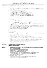 Parts Advisor Sample Resume Parts Advisor Resume Samples Velvet Jobs 1