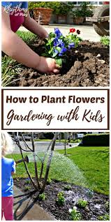 how to plant garden. Young Child Planting And Watering Flowers How To Plant Garden