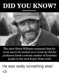 Robin Williams Quote Delectable DID YOU KNOW Inspirational Quotes Guru The Actor Robin Williams
