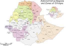 إثيوبيا خريطة المناطق الإثيوبية عن طريق خريطة المنطقة (شرق أفريقيا -  أفريقيا)