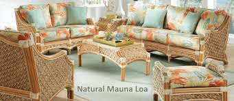 sunroom wicker furniture. Natural Mauna Loa Furniture Set Sunroom Wicker T