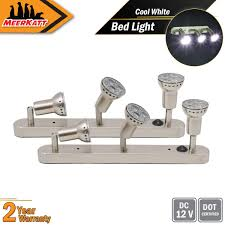 Above Bed Light Bar Meerkatt Pack Of 2 14 5 Inch Warm White Reading Wall Accessories Bed Lamp Interior Down Lights W Mr16 Led Replacement Landscape Switch Motorhome
