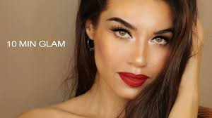10 minute glam makeup easy and affordable glam makeup makeup in a rush