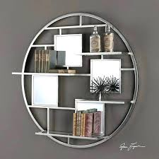 Circular Floating Shelves Delectable Circle Wall Shelf Round Raw Metal Wall Shelf Industrial Display And