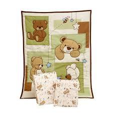 teddy bear crib sheet little bedding by nojo dreamland teddy 3 piece portable crib bedding