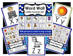 Learn the abc alphabet, phonics the fun way. Updated Letter Sounds Word Wall Set The K Files