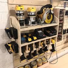 cnc made cordless drill holder wall