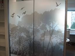 office glass frosting. Grayscale Digital Print On 3M Frosted Film For Office Partition Glass Frosting