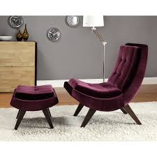 chelsea lane lashay velvet lounge chair  ottoman  purple  hayneedle