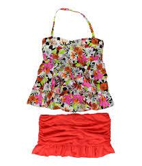 Island Escape Swimwear Size Chart Island Escape Womens Floral Tiered 2 Piece Tankini