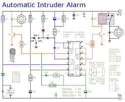 automatic intruder alarm circuit diagram circuit diagram for diy burglar alarm