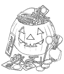 Small Picture Candy Halloween Preschool Coloring Pages Printable Free Hallowen