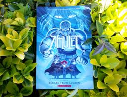amulet series book 6 escape from lucien front cover in bushes