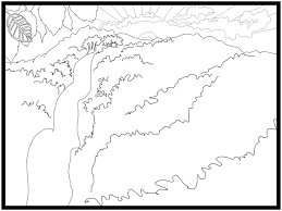 Waterfall 14 Nature Printable Coloring Pages
