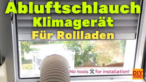 Klimaanlage Abluftschlauch Klimagerät Fensterdurchführung Rollo Diy