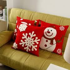 christmas pillows on sale. Delighful Pillows 5 Styles Christmas Holiday Cushions Covers Santa Claus Snowman Snowflake  Embroidery Pillow Cushion Cover Decorative Sofa Cotton Case On Pillows Sale O