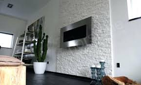 white stacked stone quartz natural veneer for feature wall fireplace mantle