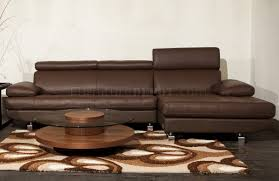 Stem Sectional Sofa by Beverly Hills in Light Brown Leather