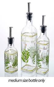 italian herbs glass olive cooking oil vinegar bottle