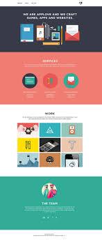 Flat Website Design Ideas Iconography Flat Web Design Web Design Inspiration