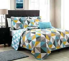 Modern Bedding Quilts – boltonphoenixtheatre.com & ... Contemporary Bedding Comforter Sets Modern Bedspreads Quilts 5 Pc Modern  Gray Blue Yellow Triangle Bedding Bedspread ... Adamdwight.com