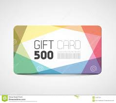 modern gift card template stock image image  modern gift card template