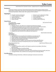 Horticulture And Landscape Design Resume Forestry Technician