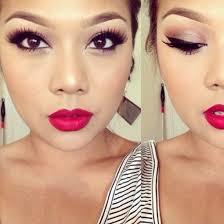 make up brown dark brunette lips rd matte maa lashes eyes eyelashes red lipstick