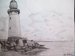 image gallery lighthouse landscape drawings