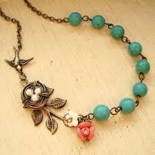 vintage style birds nest necklace wire