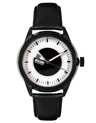 moschino leather strap watch in black for men lyst gallery