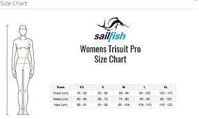 Sailfish Size Chart Sailfish Womens Trisuit Comp Blue White Amazon Co Uk