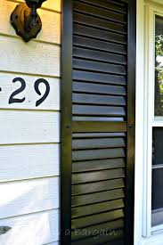 how to spray paint shutters for an thrifty exterior update