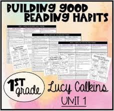 Building Good Reading Habits Lesson Plans Lucy Calkins 1st Grade Unit 1