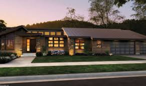 Modern Ranch Home Designs Ideas Photo Gallery In Front Rendering Rambler  Would Have To Add A Finished Basement
