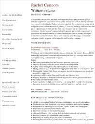 Waitress Resume Awesome Waitress Resume Template 60 Free Word PDF Document Downloads