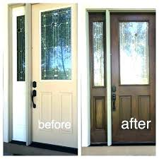 how to paint a wooden front door painting stained wood stained wood front door how to