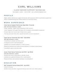 Cv Template Examples Uk Resume Examples