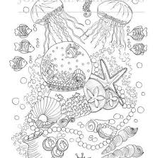 Lost Ocean Coloring Book Terrific Colored Coloring Pages Adult