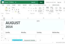 Homework Calendar Excel Weekly Assignment Template Wsopfreechips Co